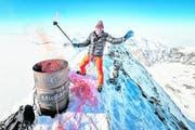 Pirmin Zurbriggen auf dem Matterhorn. (Bild: Valentin Flauraud/Keystone (8. Februar 2018))