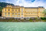 Das Vorarlberger Landeskonservatorium an der Ill im ehemaligen Gebäude des Jesuitenkollegs Stella Matutina in Feldkirch. Bild: Urs Bucher