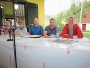 Der Vorstand der Freunde der Kleinseilbahnen (von links): Fabienne Huber, Elsbeth Flüeler, Präsident Paul Odermatt, Christof Schmitter und Gisela Jenni. (Bild: Ruedi Wechsler, Emmetten, 31. Mai 2018)