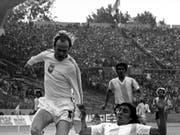 Grzegorz Lato trifft gegen Argentinien (Bild: KEYSTONE/AP)