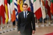 Der französische Präsident Emmanuel Macron. (Jack Taylor/Getty (Brüssel, 22. März 2018))