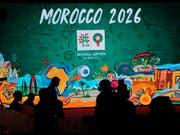 """Die Bewerbung von Marokko zur Austragung der Fussball-WM 2026 stuft eine FIFA-Kommission in den Bereichen Stadien, Unterkünfte und Transport als """"hochriskant"""" ein. (Bild: KEYSTONE/AP/ABDELJALIL BOUNHAR)"""