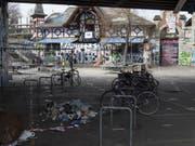 """Das alternative Berner Kulturzentrum - manche nennen sie die """"Streitschule"""". Für Kontroversen sorgt sie in der Bundesstadt jedenfalls immer wieder. (Bild: Keystone/LUKAS LEHMANN)"""
