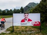 """Die Kampagne der Befürworter von """"Sion 2026"""" hat das Walliser Stimmvolk nicht überzeugt. (Bild: KEYSTONE/JEAN-CHRISTOPHE BOTT)"""