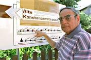 Eine «Herzensangelegenheit» war die Alte Konstanzerstrasse für Josef Steigmeier, der 2016 mit 90 Jahren verstarb. (Bild: Ruedi Steiner)