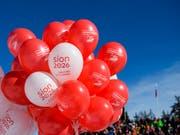 Die Walliser Stimmbevölkerung will das Ski-Fest im Jahr 2026 nicht in Sion steigen lassen. (Bild: KEYSTONE/JEAN-CHRISTOPHE BOTT)