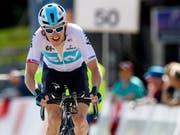 Der Brite Geraint Thomas bringt sich nach seinem Gesamtsieg an der Dauphiné-Rundfahrt für die Tour de France in Stellung (Bild: KEYSTONE/JEAN-CHRISTOPHE BOTT)