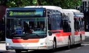 Die St. Galler Verkehrsbetriebe beantragen den Kauf von 17 neuen Bussen mit Batterieantrieb. Die Fahrzeuge und ein geplanter Ausbau der Fahrleitungen kosten 37,5 Millionen Franken. (Bild: pd)