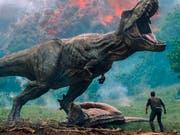 """""""Jurassic World: Fallen Kingdom"""" hat am Wochenende vom 7. bis 10. Juni 2018 am meisten Filmfans in die Schweizer Kinos gelockt. (Bild: Keystone/AP/)"""