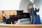 Pianistin Andrea Wiesli und Sänger Reto Knöpfel. (Bild: Vroni Krucker)