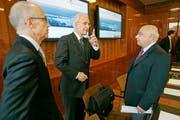 Selbstbewusste Ankündigung: Pressekonferenz in St.Gallen zur Ansiedlung des US-Unternehmens Sigma-Aldrich im Mai 2010. (Bild: Reto Martin)