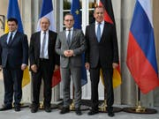 Der deutsche Aussenminister Heiko Maas (SPD) will bei einem Treffen mit seinen Kollegen aus Russland, der Ukraine und Frankreich die festgefahrenen Bemühungen um eine Beilegung des Konflikts in der Ost-Ukraine wieder in Gang bringen. (Bild: Keystone/DPA/SINA SCHULDT)
