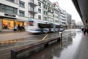Die Haltestelle Steinhof wird ab dem 18. Juni für zirka vier Wochen nicht bedient. (Bild: Stefan Kaiser (Zug, 15. Februar 2016))
