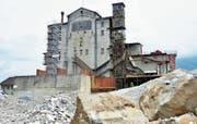 Das alte Schotterwerk der Basaltstein AG in Buchs soll abgebrochen werden. (Bild: Katharina Rutz)