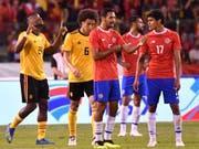 Viel Gesprächsstoff bei Costa Ricas Spielern nach dem 1:4 im Testspiel gegen Belgien (Bild: KEYSTONE/AP/GEERT VANDEN WIJNGAERT)