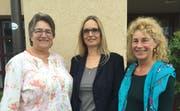 Die Kandidatinnen Barbara Beck-Iselin, Beatrice Mouchous-Marty und Marianne Aepli (von links) sind in Menzingen bekannt und gut vernetzt. (Bild. PD)