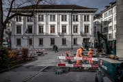 Im Finanzdepartement an der Bahnhofstrasse in Luzern werden die Steuererträge verbucht und darauf gestützt Prognosen erstellt. (Bild: Pius Amrein , 21. November 2017)