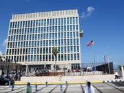 Die US-Botschaft in der kubanischen Hauptstadt Havanna. (Bild: KEYSTONE/AP/DESMOND BOYLAN)