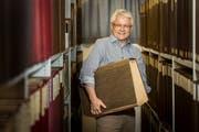 Frauenfeld TG - Stephan Gossweiler geht nach fast 40 Jahren Tätigkeit in der Kantonsbibliothek in Frauenfeld in Pension.