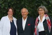 Von links: Pia Zurbrügg wurde zur neuen Präsidentin gewählt, Ludwig Altenburger und Käthi Gut wurden verabschiedet. (Bild: PD)