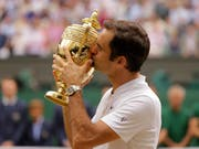 Das Ziel der Rasensaison: Roger Federer will sich in Form bringen, um in Wimbledon seinen Titel zu verteidigen (Bild: KEYSTONE/AP/ALASTAIR GRANT)