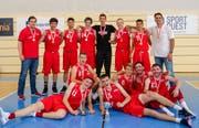 Das Schweizermeister-Team nach geschlagener Schlacht (Bild: Daniel Schriber)