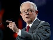 US-Justizminister Jeff Sessions. (Bild: KEYSTONE/AP/DAVID ZALUBOWSKI)