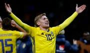 Emil Forsberg, nach Ibrahimovics Abgang der Star im schwedischen Team. (Bild: Antonio Calanni/KEY)