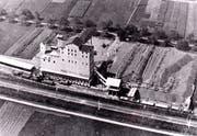 So sah das Gelände Mühleläuli mit dem Schotterwerk der Basaltstein AG ungefähr im Jahr 1930 aus. (Bild: Archiv Hansruedi Rohrer)
