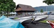 Im Clublokal des Segel-Clubs wird ein öffentliches Sommerrestaurant entstehen. Bild: Werner Schelbert (Oberägeri, 8. Juni 2018)