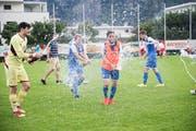 Meisterfeier des FC Hergiswil. (Bild: Manuela Jans, 9. Juni 2018)