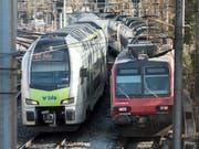 Die SBB behalten ab Ende 2019 den grössten Teil der Bahnlinien und das ganze Intercity-Netz. Der BLS bleiben zwei Interregio-Linien. (Bild: KEYSTONE/ALESSANDRO DELLA VALLE)