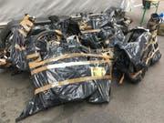 In Kreuzlingen TG entdeckten die Grenzwächter gestohlene E-Bikes und Fahrräder aus verschiedenen Kantonen. (Eidgenössische Zollverwaltung) (Bild: Eidgenössische Zollverwaltung)