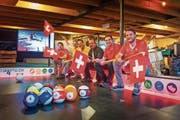 André Studer, Ramon Lehner, Pascal Hauser, Eric Studer, Orlando Rohner und Joel Studer (v. r.) freuen sich auf die WM. (Bild: Michel Canonica)