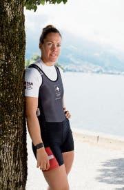 Hier gefällt's ihr: Weltmeisterin Jeannine Gmelin. (Bild: Corinne Glanzmann (Sarnen, 4. Juni 2018))