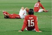 2010 scheidet das Schweizer Nationalteam in der WM-Vorrunde aus.(Bild: Peter Klaunzer/KEY (Bloemfontein, 25. Juni 2010)