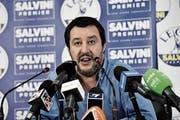 Der italienische Innenminister Matteo Salvini. (Bild: Flavio Lo Scalzo/EPA (Mailand, 11. Juni 2018))