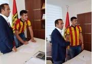 Danijel Aleksic posierte auf Facebook bereits im Trikot des türkischen Vereins. (Screenshot)