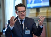 """""""Es gibt keine Missstände im Personalwesen"""": Finanzchef Benedikt Würth wehrt sich gegen Kritik der SP-Grünen-Fraktion. (Bild: Regina Kühne)"""