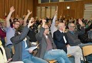 Versammlung der VSG Nollen: Die 77 Anwesenden stimmten mit einer Enthaltung einheitlich für die Rechnung 2017. (Bild: Monika Wick)