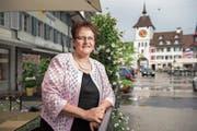 Hildegard Meier-Schöpfer, designierte Präsidentin des Luzerner Kantonsrats, im Städtli Willisau. (Bild: Dominik Wunderli (11.Juni 2018))