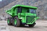 Ein monströses Gefährt: Der E-Dumper hat ein Leergewicht von 58 Tonnen. (Bild: PD)