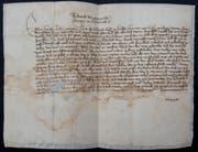 Der Brief von Herzog Friedrich an die Frauenfeld vom 27.Juli 1418. (Bild: PD)