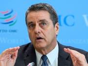 Roberto Azevedo, Chef der Welthandelsorganisation WTO, warnt und mahnt. (Bild: KEYSTONE/MARTIAL TREZZINI)
