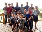 Vierzehn Söhne: Kateri Schwandt und ihr Mann im US-Bundesstaat Michigan blieben bislang tochterlos. Die statistische Wahrscheinlichkeit dafür liegt bei 1:16'000. (Bild: KEYSTONE/AP/MIKE HOUSEHOLDER)