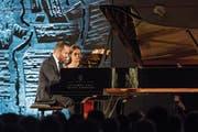 Pianist Igor Levit beim Eröffnungskonzert vom letztjährigen Festival. (Bild: Alexandra Wey/Keystone (25. Juni 2017))