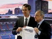 Real Madrids Präsident Florentino Perez (rechts) und Coach Julen Lopetegui (Bild: KEYSTONE/AP/ANDREA COMAS)