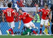 Jubelnde Russen im Auftaktspiel gegen Saudi-Arabien.
