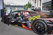 Mit drei Jahren fuhr er sein erstes Gokart-Rennen: Lucas Ayrton Mauron im Lamborghini Super Trofeo Evo. (Bild: Michel Canonica)