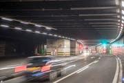 Der Gotthard-Strassentunnel ist während acht Nächten nicht befahrbar. (Bild: Urs Flüeler/Keystone (31. August 2017))